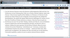Browser-Tabs oben