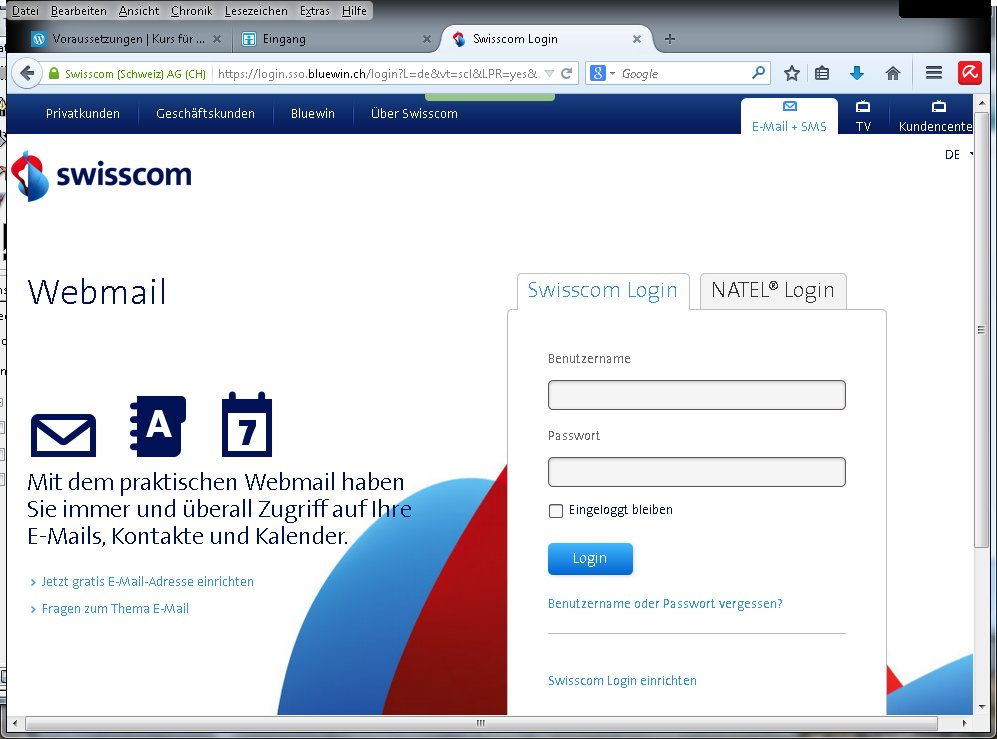 Bluewin Login