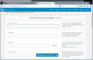 Start mit wordpress.com
